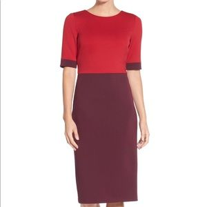 "Maggy London Dress ""Colorblock Scuba Midi Dress"""